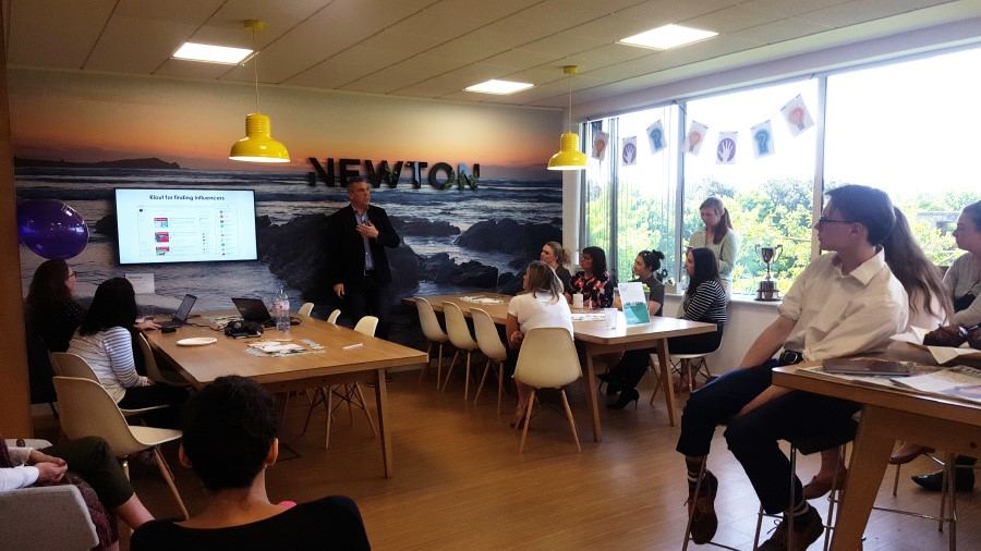 Training course for Newton Europe in support of Learning at work Week
